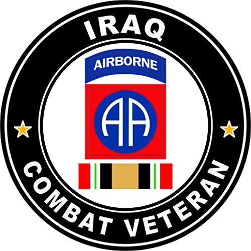 Military Vet Shop US Army 82nd Airborne Iraq Combat Veteran Operation Iraqi Freedom OIF Window Bumper Sticker Decal 3.8