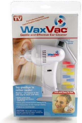 Aspirador limpia oidos WAX VAC - con 8 fundas de silicona de ...