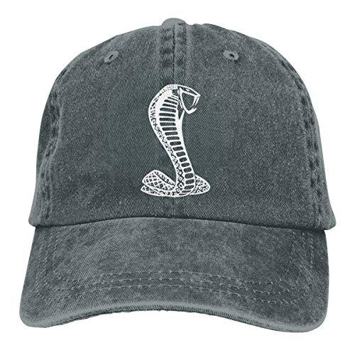 (Lkbihl Black Mustang Cobra Sandwich Unisex Adult Cap Adjustable Cowboys Hats Baseball Cap Fun Casquette Cap Deep Heather)