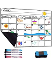 A3 Magnetic Calendar for fridge Whiteboard - Usetcc monthly planner whiteboard - Strong Magnet Use as family planner, event reminder, to do list, 42x30cm