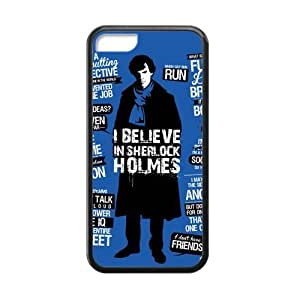 Perfect Arts Hot Movie Sherlock Holmes I Believe Unique Custom IPHONE 5C Best Rubber+Plastic Cover Case