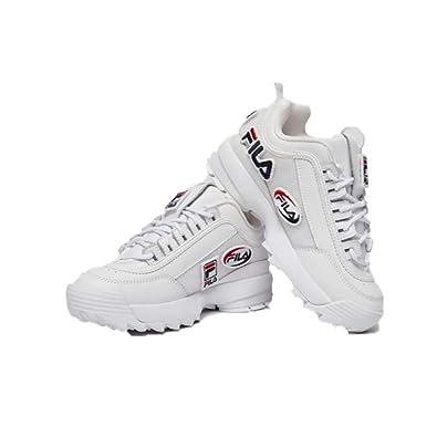 f63bf92c8 Amazon.com | Fila Womens Disruptor II Custom Patches Sneakers (8.5 M ...