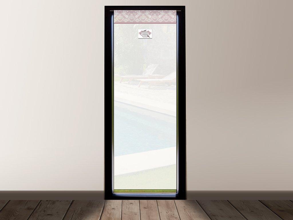 Soleil d'ocre Tenda in voile per porta finestra in cotone 70x200 cm GARDEN rose SELARTEX 046735