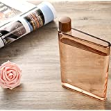 Dandyd A5 Memo Paper Bottle Flat Portable Notebook Water Bottle BPA Free for School Activity Outdoor Sports