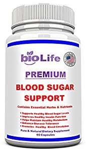 Blood Sugar Support Supplement-Promotes Healthy Blood Glucose Levels Naturally- Maintain and control healthy blood circulation