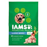 IAMS PROACTIVE HEALTH Large Breed Premium Adult Dry Dog Food (1) 30 Pound Bag; Veterinarians Recommend IAMS; Chicken Is #1 Ingredient