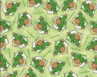 Paddington Green - 1/2 Yard - Paddington Bear Tossed on Green Cotton Fabric (Great for Quilting, Sewing, Craft Projects, Throw Pillows & More) 1/2 Yard X 44