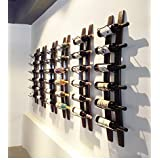 Wall Mounted Wine Rack | Rustic Barrel Stave Hanging Wooden Wall-mounted Wine Rack