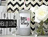 Boss Lady, Girl Boss, Boss Lady Tumbler, Boss Gift, Best Boss Ever, Girl Boss Mug, Boss Mug, Custom Glitter Mason Jar, #Girlboss, #bosslady