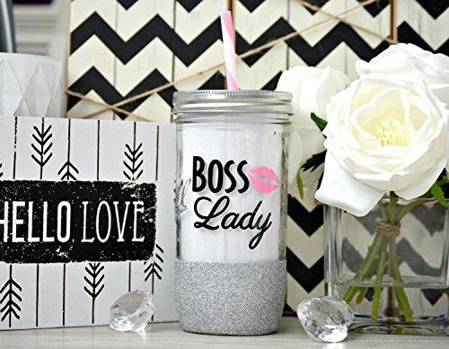 Boss Lady, Girl Boss, Boss Lady Tumbler, Boss Gift, Best Boss Ever, Girl Boss Mug, Boss Mug, Custom Glitter Mason Jar, #Girlboss, #bosslady by Love In The City Shop!