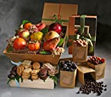 Champlain Deluxe Seasonal Fresh Fruit, Driied Fruit, and Tea Cookies Gift by Manhattan Fruitier with 9 Pieces Seasonal Fresh Fruit, Assortment Pack of Dried fruit & Nuts, and Tea Cookies
