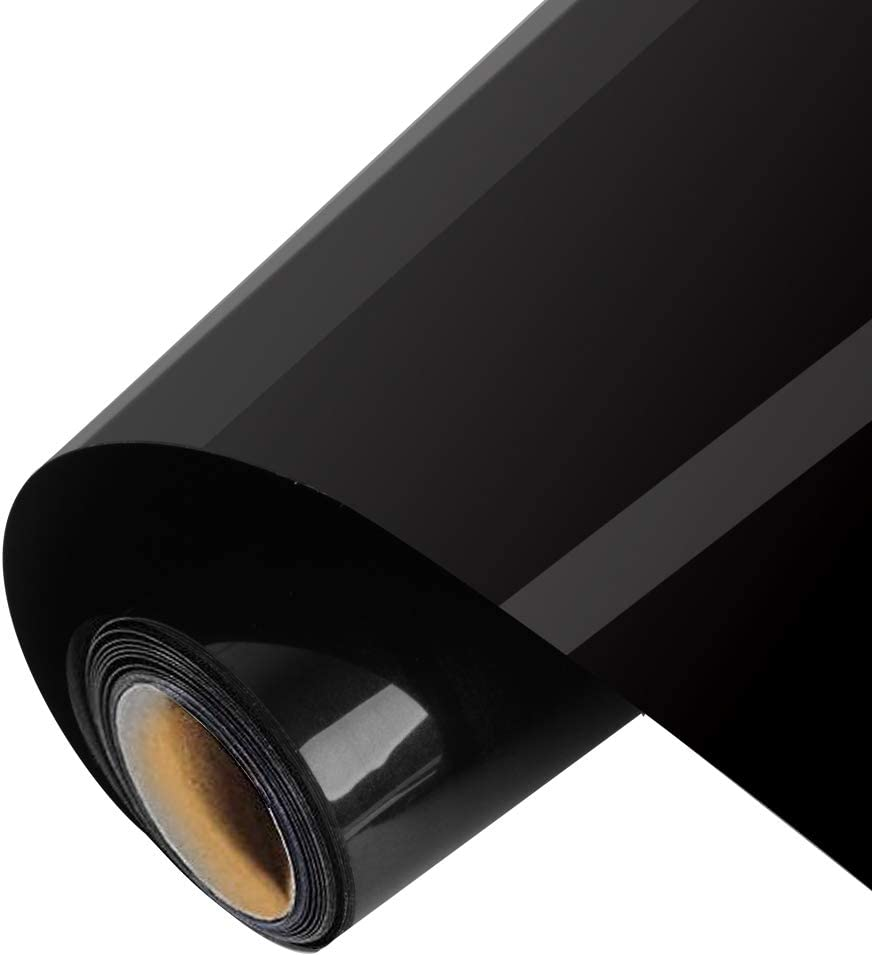 1 rollo de vinilo de transferencia de calor Outee 12 pulgadas por 10 pies para planchar HTV para camisetas, ropa, sombreros, vaqueros, compatible con máquinas de prensa de calor Cricut Camero, sublimación,