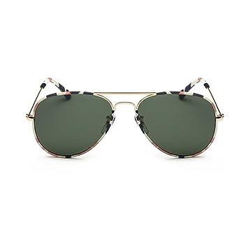 Providethebest Frame Coolsir Hombres Mujeres piloto Gafas de Sol del Metal Vidrios polarizados Fresca Clásica, Conducir Gafas de Sol Gafas Lente Verde: ...