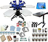 Full Screen Printing Kit 6 Color 6 Station Screen Printing Machine Starter Kit