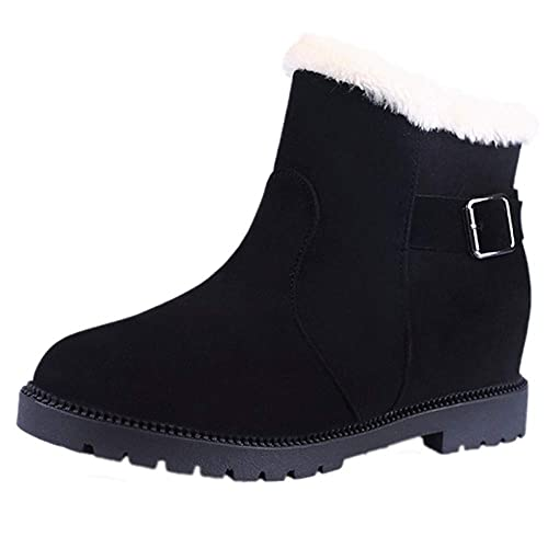 Amazon.com: Harpi Snow Warm Women Shoes 2018 Womens Winter Suede Buckle Strap Boots Round Toe Flat Non-Slip Boots: Shoes