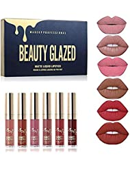 TOPBeauty 6pcs/set Makeup Matte Lipstick Lip Kit Gloss...