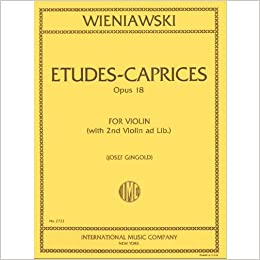 los angeles entire collection purchase cheap Amazon.com: Wieniawski Henryk Etudes Caprices, Op. 18 Violin ...