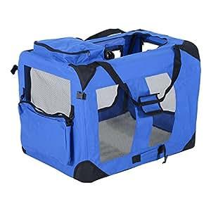 Amazon Com Pawhut 32 Quot Soft Sided Folding Crate Pet