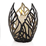 Joveco Metal Cage Modern Fashion Style Sconce Candle Holder Stand Black Golden