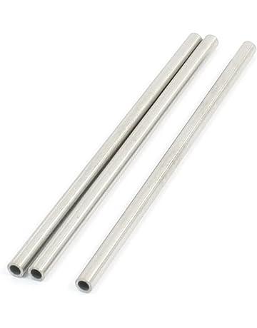 2m TUBO ACCIAIO INOX 50mm x 2000mm v2a tubo di scarico tubo acciaio inox tubo di scarico