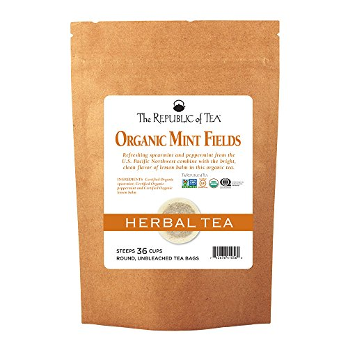 (The Republic Of Tea Organic Mint Fields Tea, 36 Tea Bags, Herbal Mint Blend)