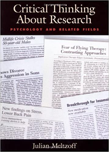 critical thinking about research psychology and related fields by julian meltzoff