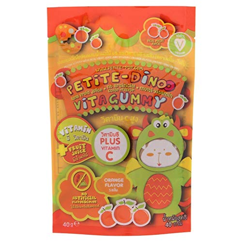 Sinto shop 1pack Multivitamin Pectin Gummy Orange Flavor 40g.[Petite Dinoo]