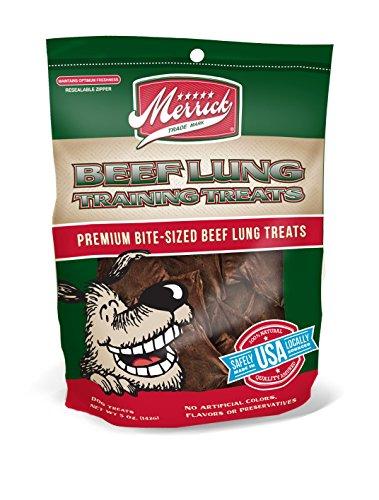Beef 5 Ounce Bag (Merrick 5-Ounce Beef Canine Training Treats, 1 Bag)