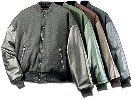 Chaqueta de piel y lana REED Varsity – Fabricado en Estados Unidos