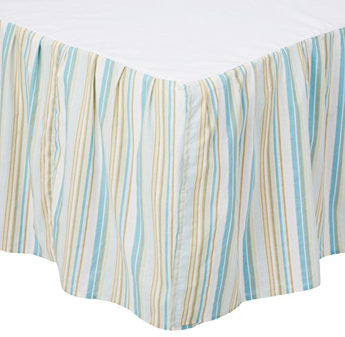 C&F Home 89452.6080 Natural Shells Bed Skirt, Queen, Blue by C&F Home