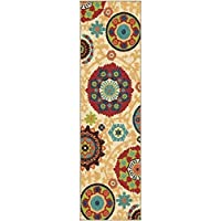 Indoor/Outdoor Promise Fahri Beige Runner Rug, 23 x 8