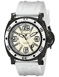 Swiss Legend Men's 11503-BB-02-WHT Typhoon Analog Display Swiss Quartz White Watch