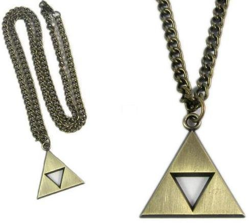 Oliasports Zelda Triforce Gold Necklace (Video Game Necklace)