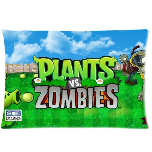 Plants vs.Zombies Zippered Pillow case/Fundas para almohada ...