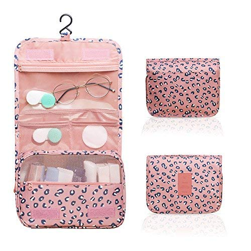 Zoevan Toiletry Cosmetic Bag Portable Makeup Pouch Waterproof Travel Organizer (Red)