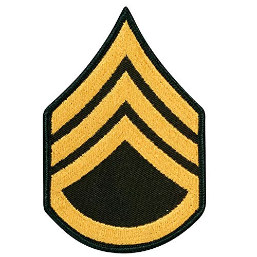 - Medals of America US Army Staff Sergeant E 6 Army Class A (Gold on Green) Enlisted Rank Male Size Multicolored