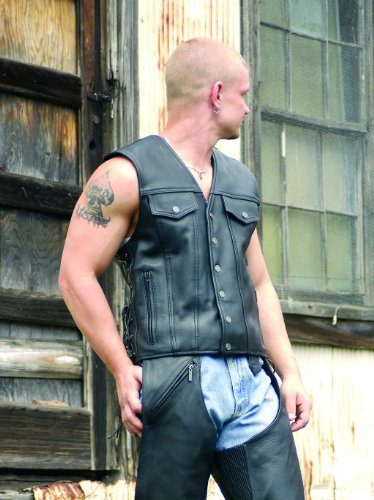 Milwaukee Motorcycle Clothing Company Men's Gambler Vest (XXX-Large) ()