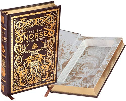 (Handmade Book Safe - Tales of Norse Mythology (Leather-bound) (Magnetic Closure))