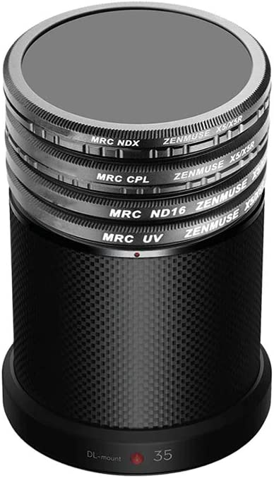 Meijunter UV Filter+ND16 Filter+CPL Filter+ND2-400 Filter for DJI Inspire Zenmuse X5//X5R//X7-4 Piece High Definition Multi-Coated Optical Glass Camera Lens Filter