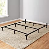 Mainstays 7' Adjustable Metal Bed Frame, Easy No-Tools Assembly, Twin/Full/Queen