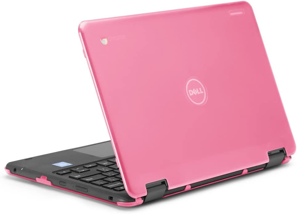 "iPearl mCover Hard Shell Case for 2017 11.6"" Dell Chromebook 11 3189 Series 2-in-1 Laptop (NOT Compatible with 210-ACDU / 3120/3180 Series) - 3189 Pink"