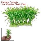 SODIAL(TM) 10pz di erba vegetale verde plastica per acquario