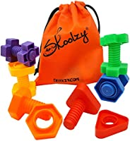 Skoolzy Jumbo Nuts and Bolts Toddler Toys Montessori Toys Building Construction Set | 12 pc Occupational Thera