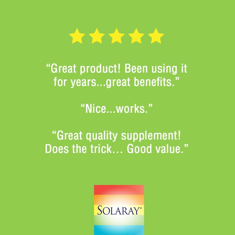 Solaray Alfalfa Leaf 430mg | Vitamin-Rich Superfood w/Fiber & Chlorophyll | Healthy Blood, Kidneys & Digestion Support | Non-GMO, Vegan | 100 VegCaps: Health & Personal Care