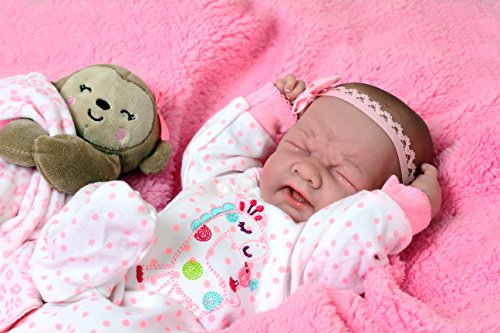 "Baby Doll So Real 15"" Anatomically Correct Real Vinyl Bathable Berenguer Preemie Lifelike Reborn (Crying Baby Girl)"