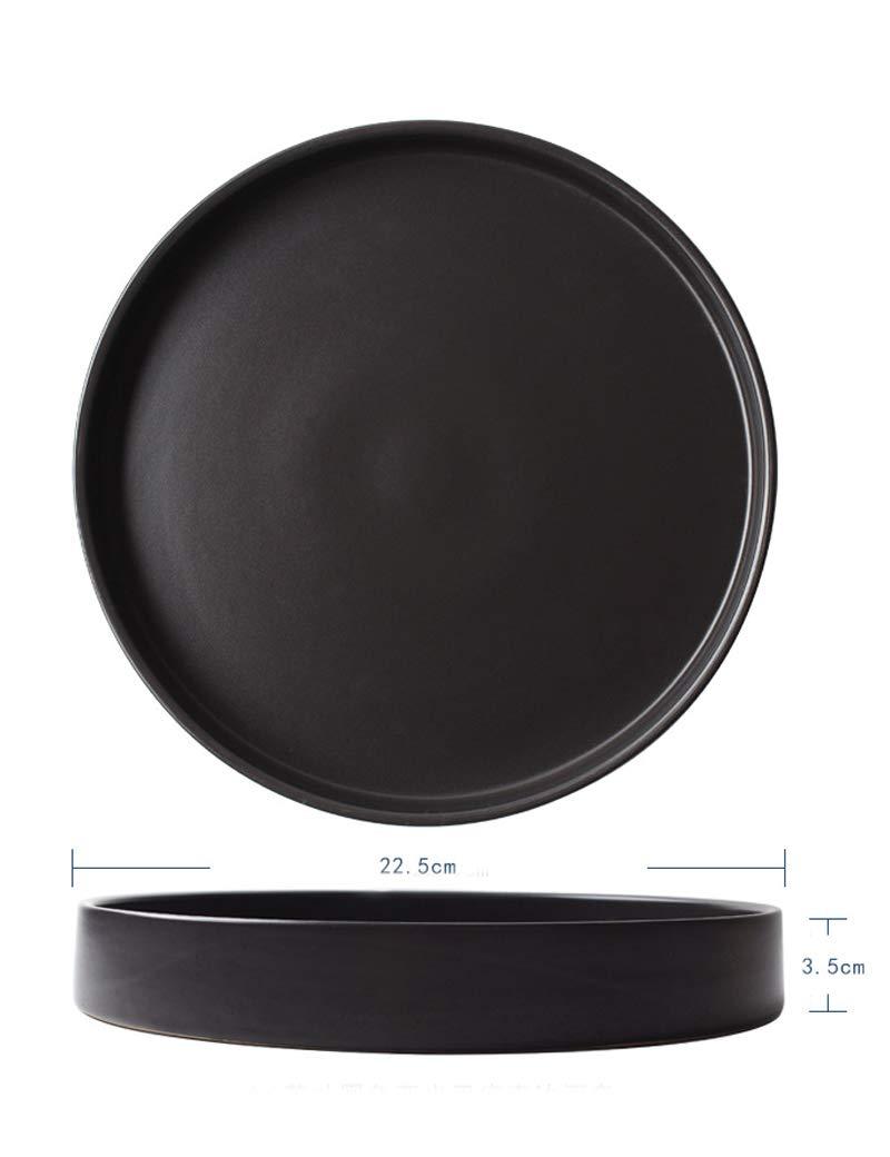 Tazón de cerámica de 9 pulgadas, plato de poca profundidad/disco ...