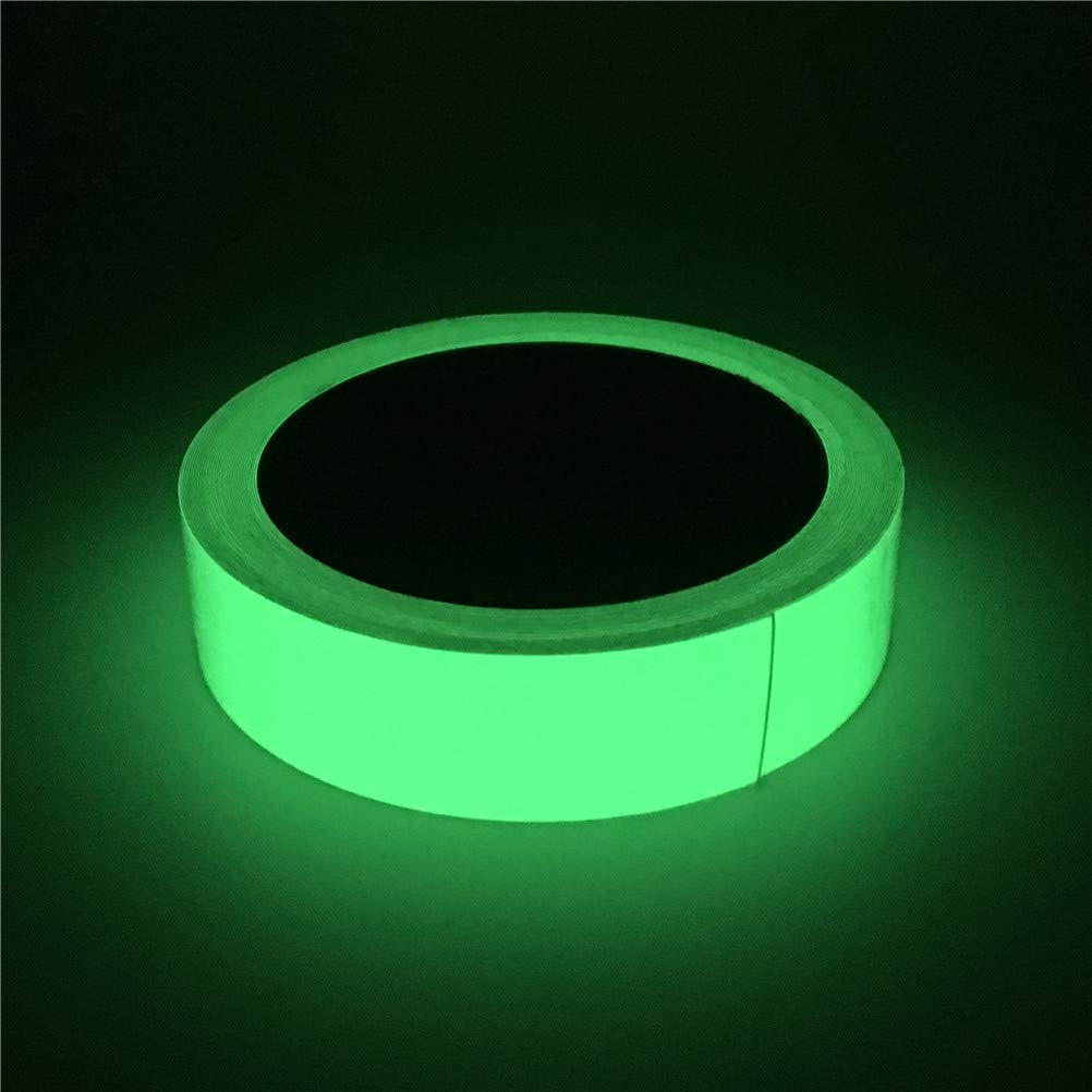 5ccm.Young Glow in The Dark Tape,Sticks Easily & Waterproof,Fluorescent Duct Tape,Perfect for Stairs, Light Switches, Stage, Theatrical, Theater, Exits, 30' ft Length x 1 Inch Wide, Fluorescent Green