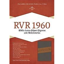 Rvr 1960 Biblia Letra Super Gigante, Gris Piel Fabricada Edicion Con Cierre