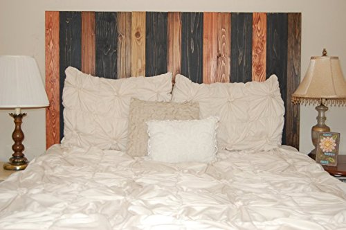 Cabin Mix Design - King Size Hanger Handcrafted Headboard. Mounts on Wall. Easy Installation.