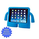 iPad Air Case for Kids (INCLUDING Screen Protector) - A Shockproof and Durable Protective Case for the iPad Air and Air 2 which is Free-Standing has Carrying Handles and is Child Safe (TRUE BLUE)
